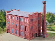 764,  Fabrikgebäude,  Schreiber-Bogen Kartonmodell im Maßstab 1:87
