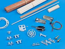 Beschlagteile der Firma Krick, Anker Ruder, Poller, Lampen und mehr