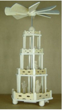erzgebirgische Weihnachtspyramide als Bausatz,  1035