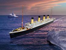 705,  Titanic,  Schreiber-Bogen Kartonmodell im Maßstab 1:200