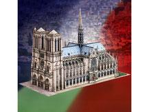 787,  Notre-Dame Paris,  Kartonmodell im Maßstab 1:300
