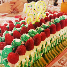 Torta compleanno ai frutti di bosco