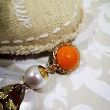 Pâte de verre orange pour bijoux Aux Dames de Jadis