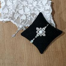 dentelle de perles brodées pour mariage