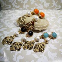 Clips d'oreille prestige pierres fines et perles de culture Aux Dames de Jadis
