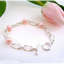 Perles de culture en rose