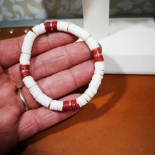 Bracelet de surfeur rouge