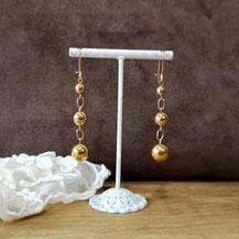 Boucles d'oreille perles d'or