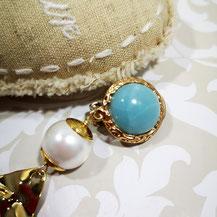 Agate turquoise pour bijoux Aux Dames de Jadis