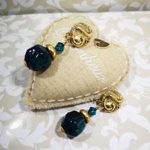Clips d'oreille perles anciennes