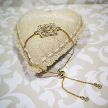 Bracelet fin coulissant avec strass
