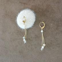 Boucles doreille pour femme avec perles de majorque