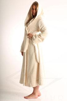 Bio Baumwolle Frottier Bademantel mit Kapuze Herren, Damen, kuschelige Wohlfühlmode, schöner weicher bademantel für Frauen und Männer