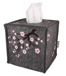 Taschentücher, Tempobox, Kosmetiktücherbox, Filz, kein Plastik, Kirschblüten , Hanami