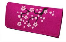 Geldbeutel Filz Pink Hanami Kirschblüten