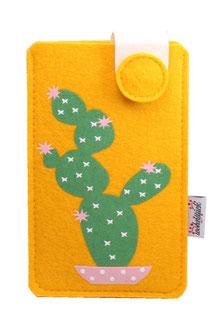 Handy Etui Filzetui Filz Hülle Sleeve Kaktus