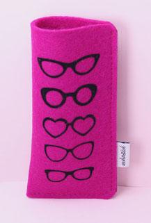 Brillenetui, Brille, ohne Plastik, Filz