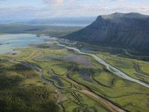 View from Skierffe, Laitaure Delta, Rapadalen, Sarek, Laponia, Sweden