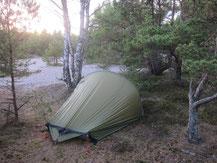 Camping at Stora Sand, Utö, Stockholm archipelago