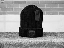 Profound Aesthetic Trackway Acrylic Beanie w/ Genuine Leather Black Patch