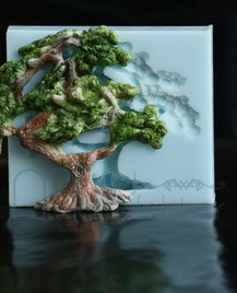 MouldManufaktur Silikonform Mould Fondant Bonsai Edelweiss