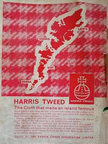 Ein altes Inserat, gefunden auf der Website der Harris Tweed Authority.