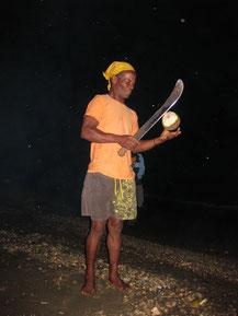 Kokos-Nuss Knacher auf Grenada