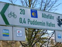 Radwege bei Puddemin