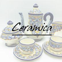 ceramica talavera, Isabel Rueda, juegos de cafe, vajilla, platos, bolas de navidad, quijote, segurilla. pintado a mano, hecho a mano