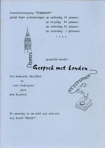 Gesprek met Londen - 1986