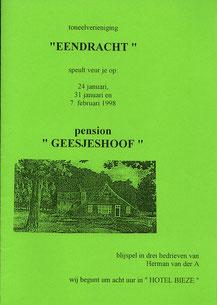pension Geesjeshoof - 1998