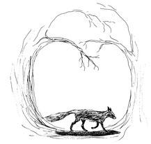 Fuchs Wald verwunschener Pfad