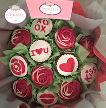 Valentines cupcake bouquet, Unique edible Valentines gift