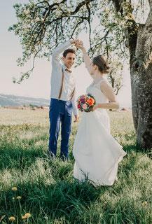 Hochzeit Weddingshooting Braut Bräutigam