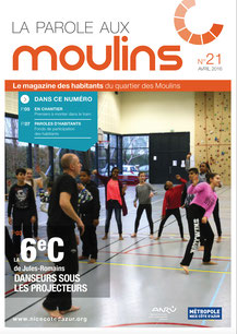 Le magazine des habitants du quartier des Moulins à Nice, en projet de rénovation urbaine, rédigé par Solweg