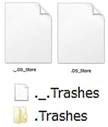 Windowsでは見えてしまうMacの不可視ファイル。