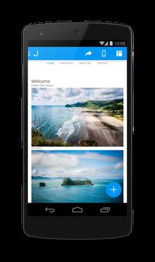 Jimdo для Android - полная мобильность