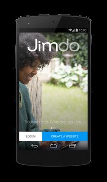 Jimdo для Android - создание нового сайта