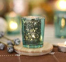 silberne Kerzenhalter