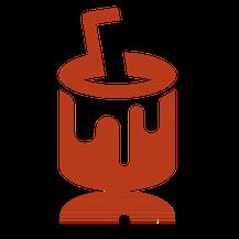 Farbbüchse mit Spachtel