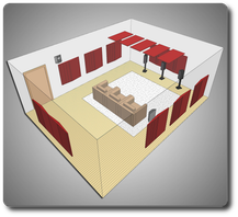 Комплект акустических материалов для комнат 40-50 м2