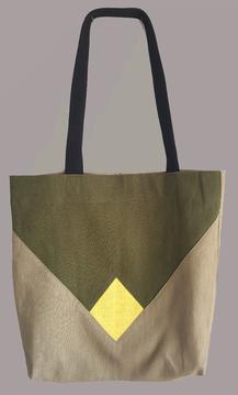 olivgrün - gelb - beige