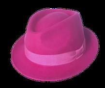 Hut Milano in pink, mit pinkem Band
