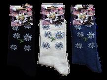 Socken mit Edelweiß für Kinder
