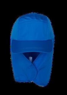 Kinderkappe mit Nackenschutz royal blau