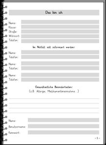 Adress- und Kontaktseite