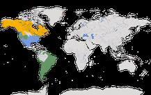 Karte zur Verbreitung der Gattung Zonotrichia