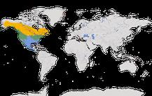 Karte zur Verbreitung der Gattung Melospiza