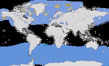 Karte zur Verbreitung der Gattung der Eissturmvögel