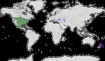 Karte zur Verbreitung der Gattung Truthühner